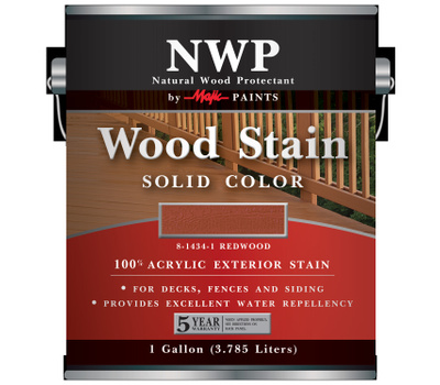 Yenkin Majestic 8-1434-1 Stain Wood Acry Sld-Clr Rdwd G
