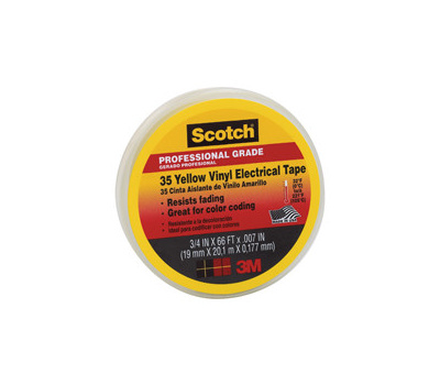 3M 10844-DL-5 3/4 Yellow Electrical Tape