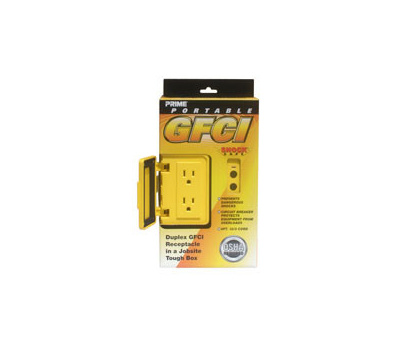 Prime Wire GF200806 Shock Safe Portable Gfi Box 6 Foot 12/3 Cord Yellow