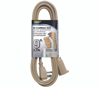 Power Zone OR681509 Air Conditioner Appliance Cord 14/3 Spt-3 Beige 9 Foot