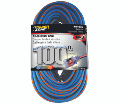 Power Zone ORC530735 Cord 100 Foot 14/3 All Weather