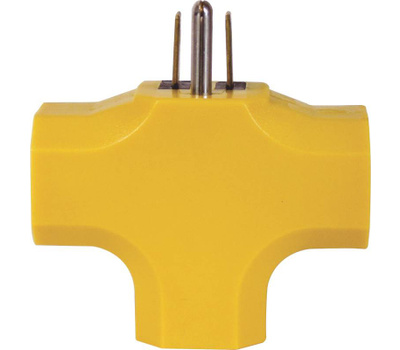 Power Zone ORAD0200 Power Tap 90 Degree Triple Yellow