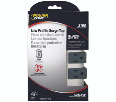 Power Zone OR503105 Tap Surge 6 Rotating Out 2160J