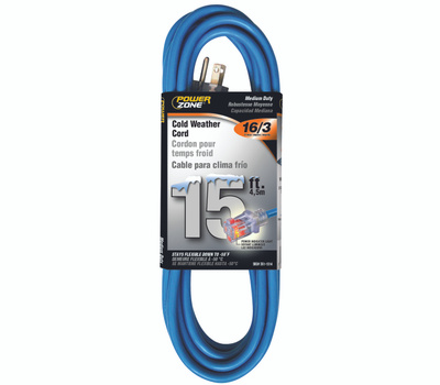 Power Zone ORCW511615 Cord Ext Otdr Rd Cld 16/3x15ft