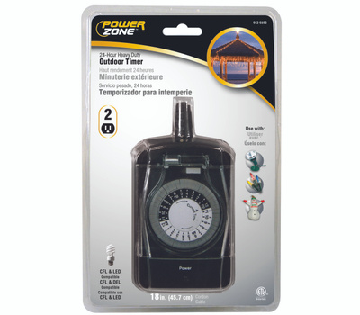 Power Zone TNO24111 Timer Outdr 24Hr Hd 2Out Mech