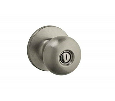 Kwikset SK3000AS 15 RCAL RCS Safe Lock Athens Bed And Bath Privacy Lockset Satin Nickel