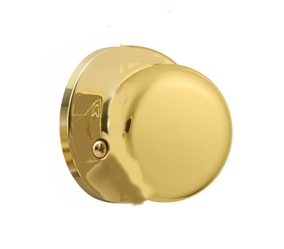 Kwikset SK7000AS 3 Safe Lock Athens Half Dummy Knob Pill Polished Brass