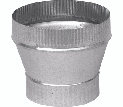 Imperial Manufacturing GV1418 3 Inch By 4 Inch Galvanized Increaser Crimped