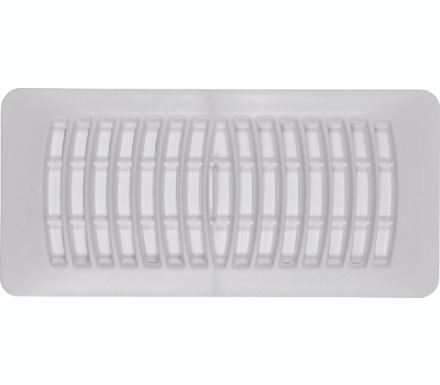 Imperial Manufacturing RG1292 Register Floor 4X10in Wht