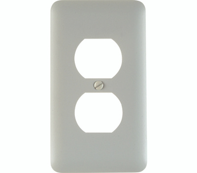 American Tack & Hardware 935DW Single Duplex Wall Plate White