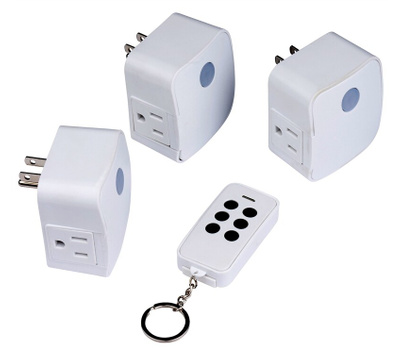 AmerTac RFK1636LC Westek One Fob Remote With 3 Grounded Outlet Remote Receivers