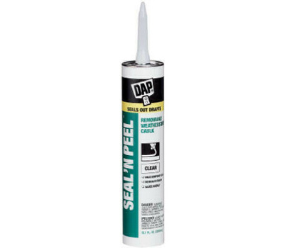 Dap 18351 Seal-N-Peel Weatherstrip Sealant, Clear, 10.1 Oz Cartridge