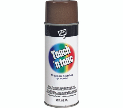Rust Oleum 55277830 Touch N Tone Leather Brown Gloss All Purpose Spray Paint