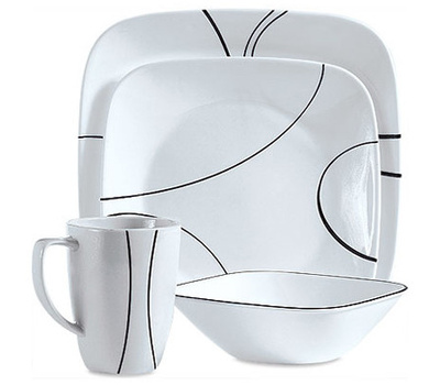 World Kitchen 1069983 Corelle 16 Piece Square Dinnerware Set  sc 1 st  HardwareAndTools.com & World Kitchen 1069983 Corelle 16 Piece Square Dinnerware Set ...