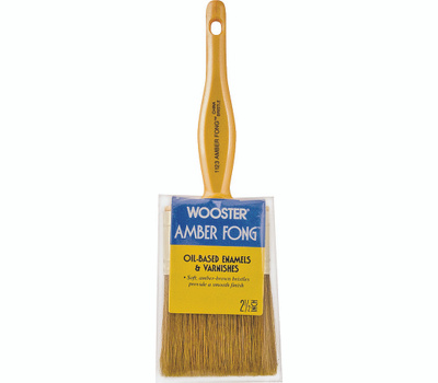Wooster 1123-2-1/2 Amber Fong China Bristle Varnish Brushes 2-1/2 Inch