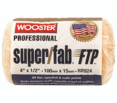Wooster RR924-4 Super Fab 4 Inch 1/2 Inch Nap High Capacity Roller Cover