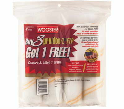 Wooster RR868-9 Cover Paint Roller 9X3/8In 4Pk 4 Pack