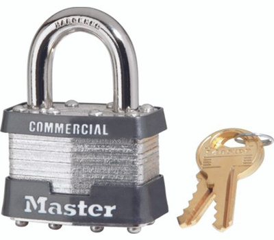 Master Lock 1KA2008 Steel Padlock 1-3/4 Inch Wide Self Locking