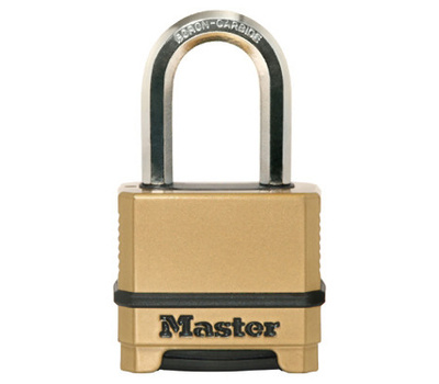 Master Lock M175XDLFCCSEN Padlock 2 Inch Combination 1-1/2 Inch Shackle