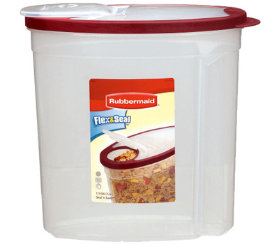 Rubbermaid Home 1777195 Flex & Seal Food Container Red Flex 1.5 Gl
