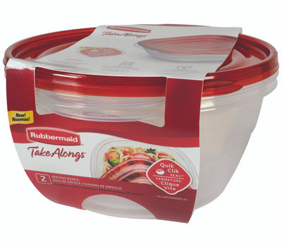 Rubbermaid Home 2086745 Takealongs Bowl Container Covered 2 Pack 13 Cup
