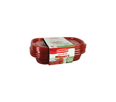 Rubbermaid Home 7F55-AO-TCHIL Take Alongs Rectangle 4 Cups Food Container Pack Of 3