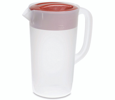 Rubbermaid Home 3062-RD-WHT Servin Saver 2 1/4 Qt Covered Pitcher