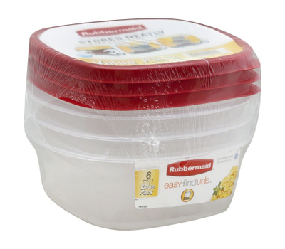Rubbermaid Home 1777166 Easy Find Lids Durable Food Container Pack Of 3