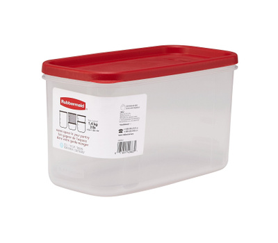Rubbermaid Home 3920-RD-WHT 10 Cup Durable Canister