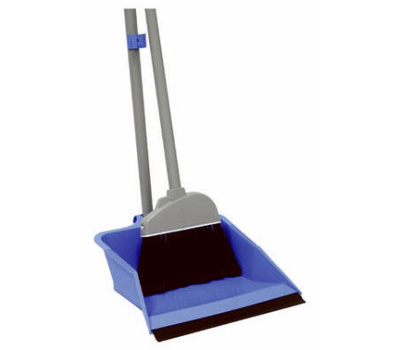 Quickie 429 Flip Lock Dust Pan With Lobby Broom