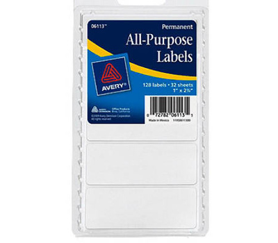 avery dennison 06113 white 1 inch by 1 3 4 inch rectangle labels