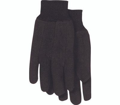 Boss 4020-6 Brown 8 Ounce Jersey Gloves Large 6 Pair
