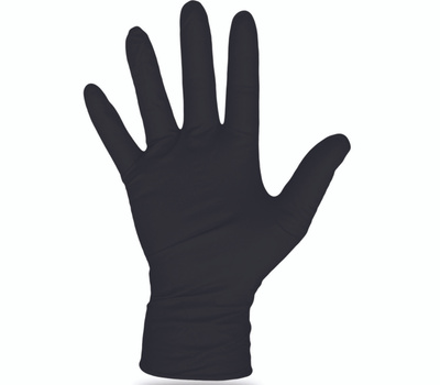 Boss 1UH0006BX Gloves Nitrile Disposable Black Extra-Large 100 Count