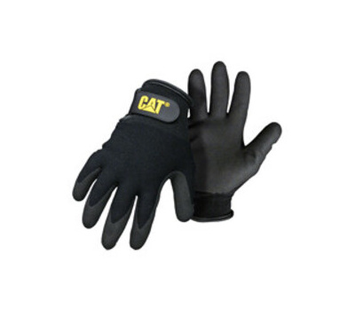 Cat Gloves CAT017414M Gloves Nylon Ctd Black Medium