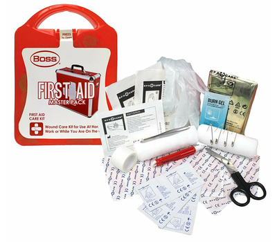 Boss 1013 Compact First Aid Care Kit 36 Piece Red