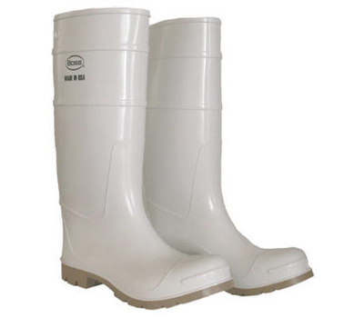 Safety Works 2PP392410 SZ10 16 Inch WHT PVC Boot