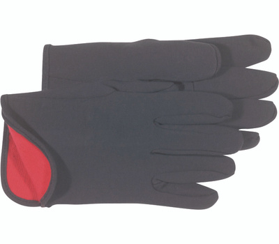 Boss 4027 Red Fleece Lined Jersey Cotton Gloves Large