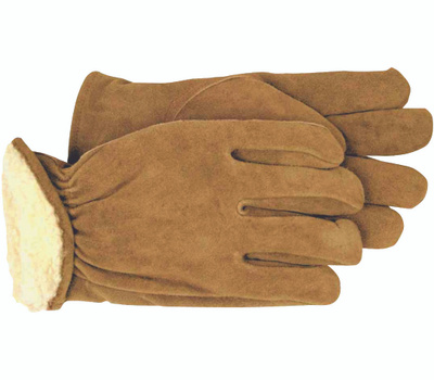 Boss 4176M Split Leather Pile Lined Material & Driving Gloves Medium