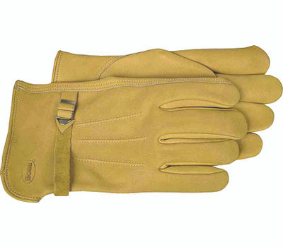 Boss 6023L Premium Unlined Tan Cowhide Drivers Gloves Large