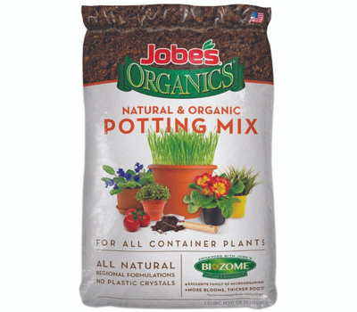Jobes Soils 08710P Jobes Mix Potting Organic 1Cu Ft Bag