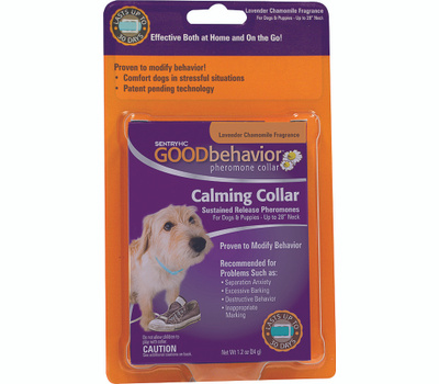 sergeants 02078 sentry good behavior calming collar for dogs and puppies lavender chamomile. Black Bedroom Furniture Sets. Home Design Ideas