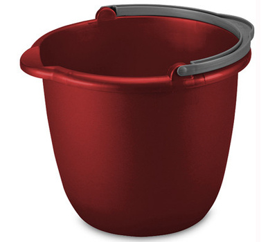 Sterilite 11205812 10 Quart Red Spout Pail