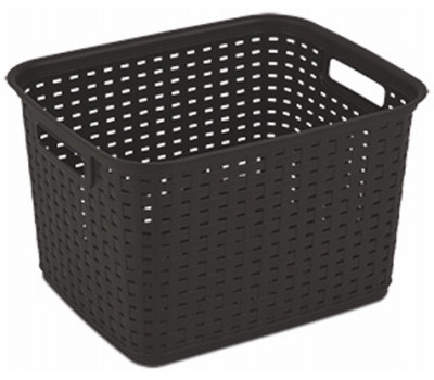 Sterilite 12736P06 Basket Tall Wicker Weave Espresso
