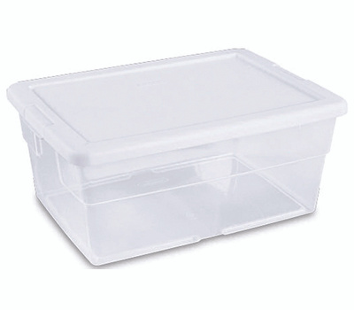 Sterilite 16448012 Basket Storage 16-3/4 By 11-7/8 By 7In White