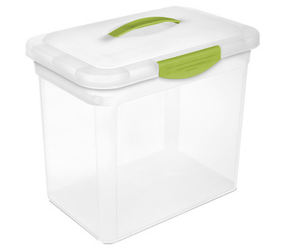 Sterilite 18964306 Large Showoff Clear Storage Box With Blue Lid