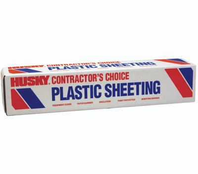 Husky SW404C 4 By 100 Foot 4Mil Nofold Clear Film