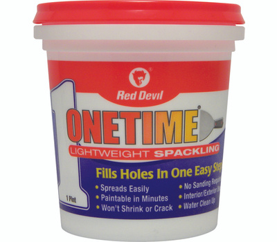 Red Devil 0548 One Time Spackling Compound Lightweight Pre Mixed 1 Pint One Time