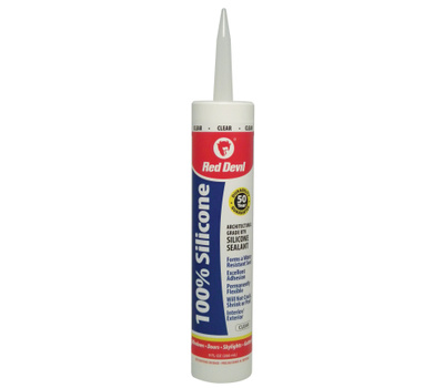 Red Devil 0826 Silicone Sealant Interior/Exterior Clear 10.1 Fluid Ounces