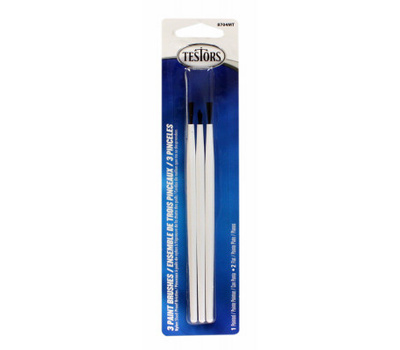 Rustoleum 8704MT 3 Piece Synthetic Artist Brush Set Flat And Pointed