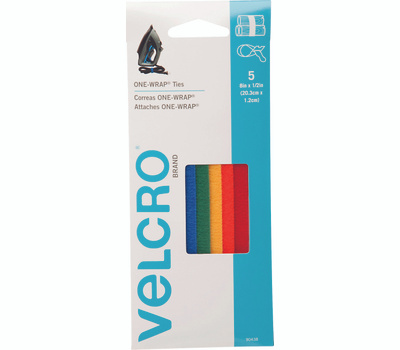 Velcro Brands 90438 One Wrap One-Wrap Multi Color Strap